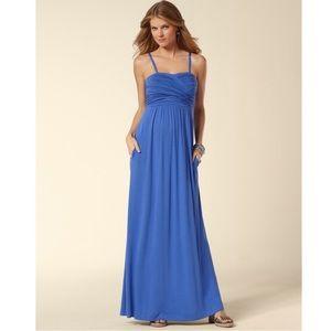 Soma Twisted Bodice Amparo Blue Maxi Dress Large